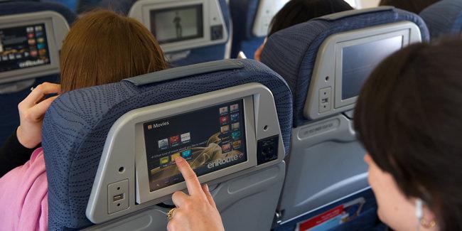 Passengers on an Air Canada flight